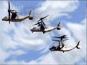 V-22 Osprey (sokol) v fazi prehoda
