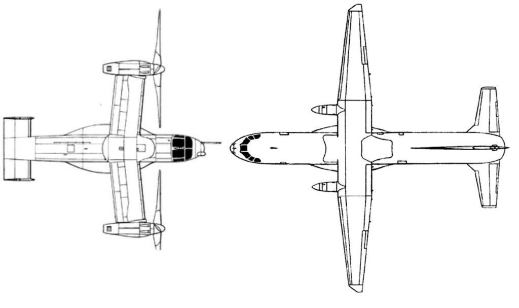 Primerjava med V-22 Osprey in Casa C-295