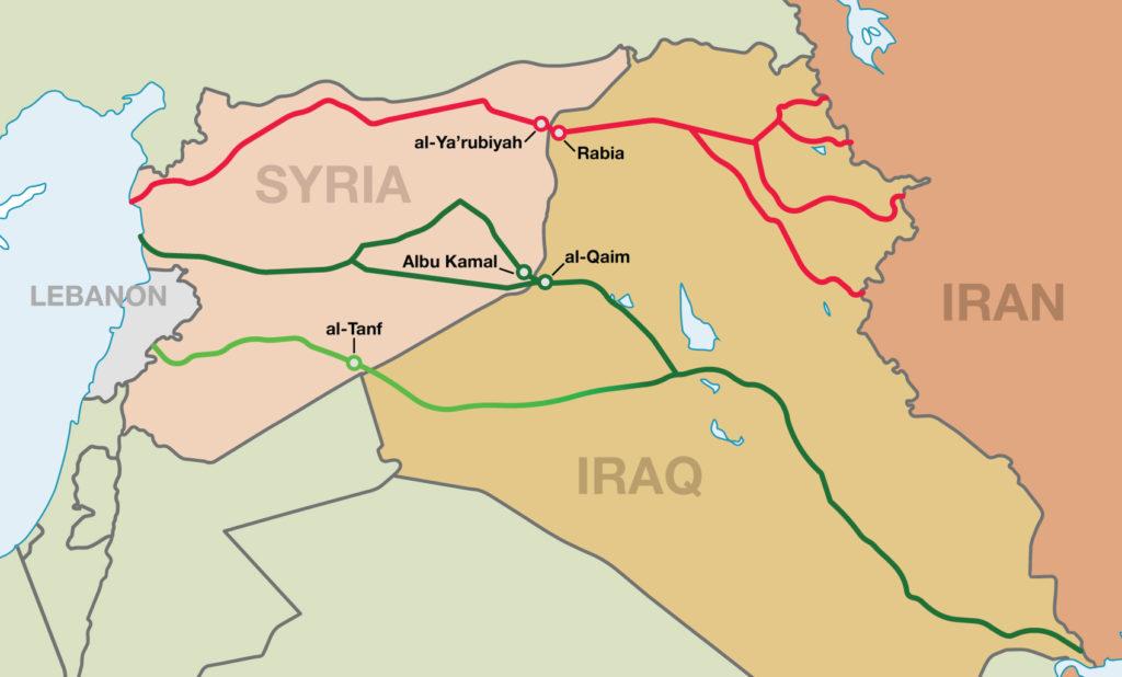 načrt iranskih prometnih povezav proti Mediteranu