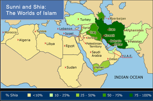 države z vplivnim šiitskim delom prebivalstva